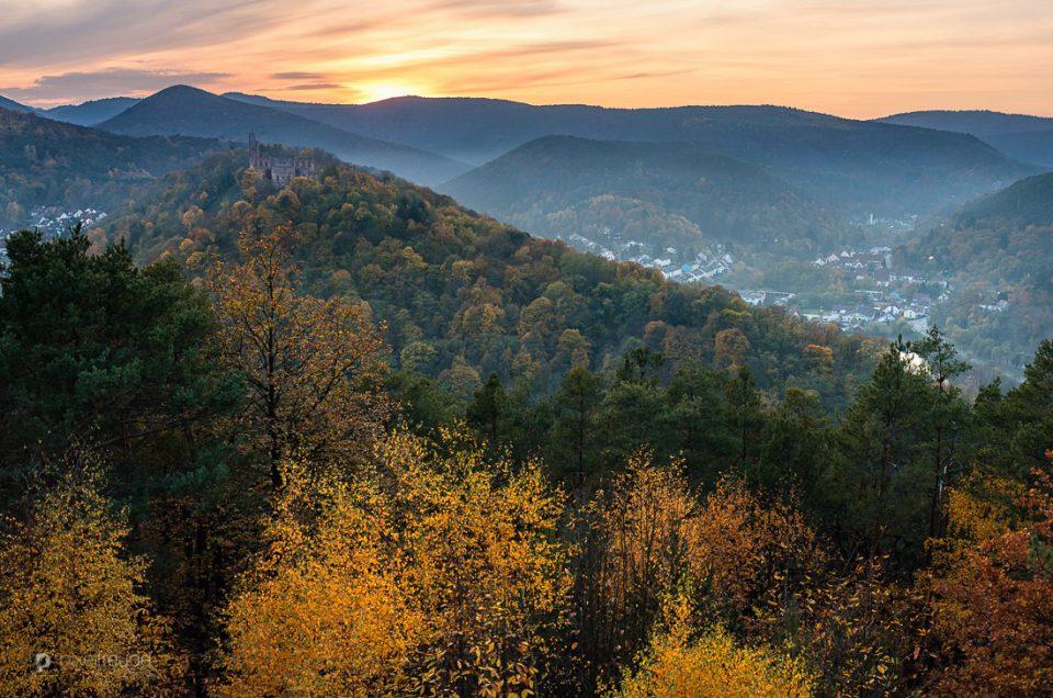 Herbst über Bad Dürkheim
